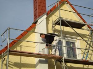 Fassadenanstrich durch Malerfirma aus Panketal