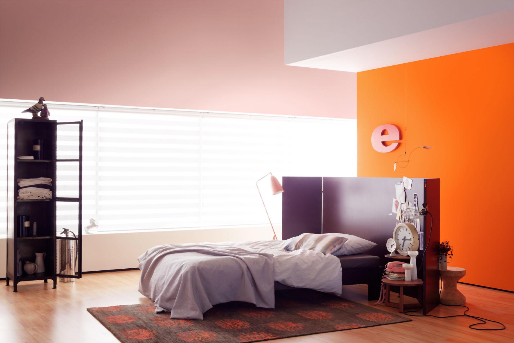 Kontrastreiche Farben Im Schlafzimmer